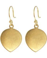 Me&Ro - Gold Large Lotus Petal Earrings - Lyst