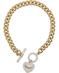 Juicy Couture - Heart Toggle Necklace - Lyst