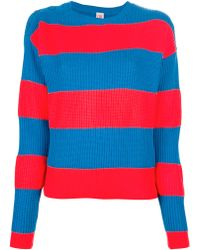Lacoste L!ive Bold Striped Sweater - Red