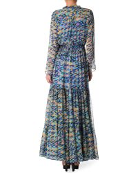 Saloni Alexia Printed Gown - Lyst