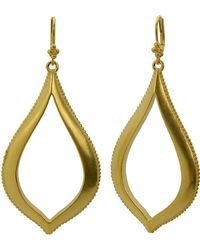 T Tahari - 14 Kt Gold Plated Antique Teardrop Earrings - Lyst