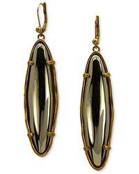 T Tahari - 14 Kt Goldplated Metallic Drop Earrings - Lyst