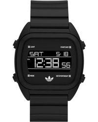 Adidas Digital Watch Black - Lyst
