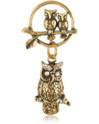 Alcozer & J - Owl Brass Pin - Lyst