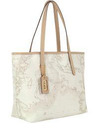 Alviero Martini 1A Classe Geo Print Tote Bag - White