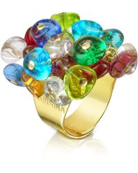 Antica Murrina Rubik - Murano Glass Drops Ring - Multicolor