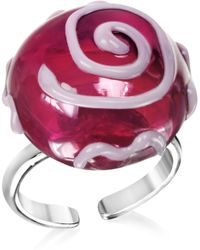 Antica Murrina Mignon Murano Glass Ring - Purple