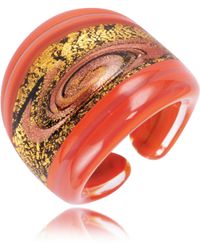 Antica Murrina - Cuba Red and Gold Murano Glass Ring - Lyst