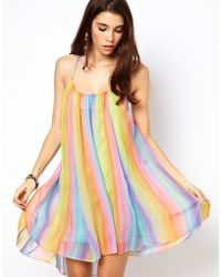 ASOS Collection | Rainbow Swing Dress with Cami Back | Lyst