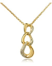 AZ Collection - Gold-plated Pendant Necklace - Lyst