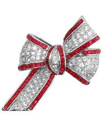 AZ Collection - Bow Brooch - Lyst
