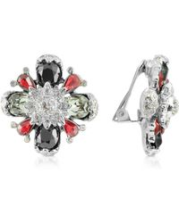 AZ Collection - Flower Clip-on Earrings - Lyst