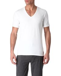 Calvin Klein Pack Of Two Vneck Tshirts - Lyst