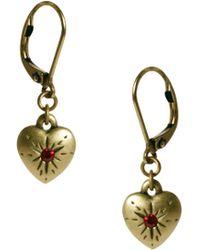 Cath Kidston - Heart Drop Earrings - Lyst