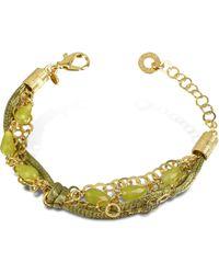Daco Milano - Jade Multi-strand Sterling Silver Lace Bracelet - Lyst