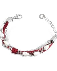 Daco Milano - White Agate Drops Multi-strand Sterling Silver Lace Bracelet - Lyst