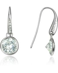 Dkny Crystal Drop Earrings Lyst