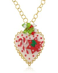 Dolci Gioie Christmas Heart Necklace - Lyst