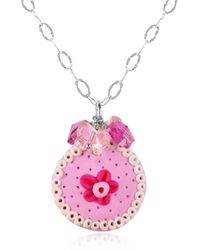 Dolci Gioie - Sterling Silver Cake Charm Necklace - Lyst