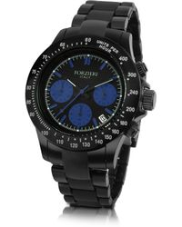 Forzieri Stingray - Men'S Black Chrono Bracelet Watch - Lyst