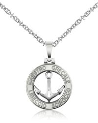 FORZIERI Stainless Steel Anchor Pendant Necklace - Gray