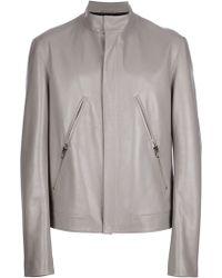 Giuliano Fujiwara - Multipocket Leather Jacket - Lyst
