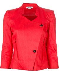 Helmut Lang Cropped Jacket - Red