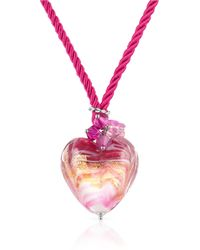 House of Murano - Mare - Pink Murano Glass Heart Pendant Necklace - Lyst