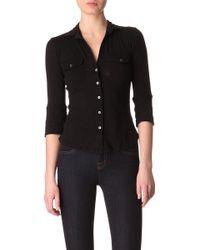 James Perse Black Jersey Shirt - Lyst