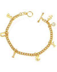 Juicy Couture - Juicy Ransom Note Bracelet - Lyst