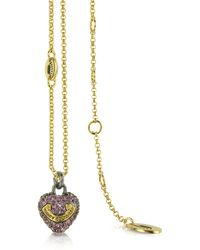 Juicy Couture - Pave Heart Wish Necklace - Lyst