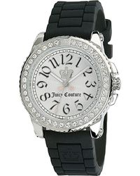 Juicy Couture Stainless Steel and Rubber Watch White - Lyst