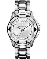 Karl Lagerfeld Watches Kl1005 Round Stainless Steel Watch - For Women - Lyst