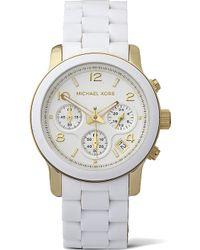 Michael Kors Chronograph Watch White - Lyst