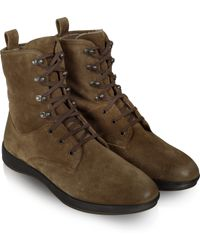 Moreschi - Beige Suede Lace-up Ankle Boot - Lyst