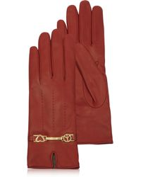 Moschino - Cheap and Chic Red Leather Gloves - Lyst