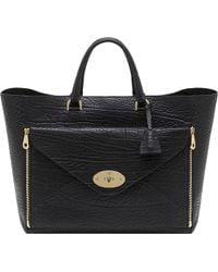 Mulberry - Willow Oversized Shrunken Leather Tote - Lyst