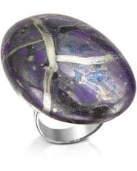 Naoto - Alchimia - Purple And Silver Foil Sterling Silver Ring - Lyst