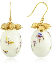 Naoto - Alchimia - Oval Gold Foil Drop Earrings - Lyst