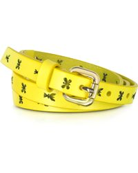 Patrizia Pepe - Pepe Fly Laser Yellow Leather Belt - Lyst