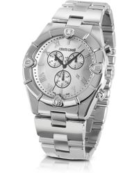 shop men s roberto cavalli watches from 350 lyst roberto cavalli kite mens silver dial stainless steel chrono watch lyst