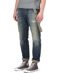 Scotch & Soda Brewer Loosefit Tapered Jeans - Blue