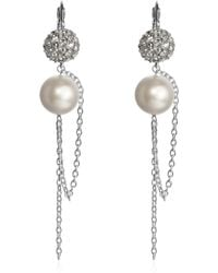 Swarovski - Liquid Pearl Long Earrings - Lyst