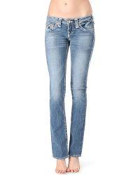 True Religion Johnny Slim Boot Cut Midrise Jeans Mid Drifter - Lyst