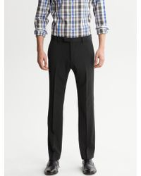 Banana Republic Tailored Slim Black Italian Wool Suit Trouser - Lyst