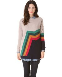 Band of Outsiders - Aztec Stripe Sweater - Lyst