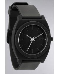 Nixon The Time Teller P Watch in Matte Black - Lyst