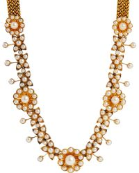 Olivia Collings - Pearl Floral Collar - Lyst
