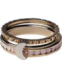 Orelia - Moon Stacker Ring Set - Lyst