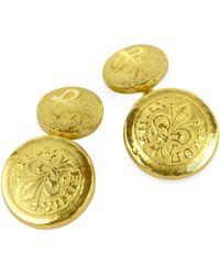 Torrini | Fiorino - Fleur-de-lis 18k Yellow Gold Cufflinks | Lyst